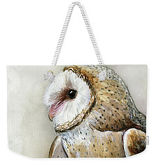 Barn Owl Watercolor Weekender Tote Bag by Olga Shvartsur