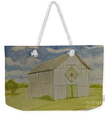 Weekender Tote Bag featuring the painting Barn Quilt by Stacy C Bottoms