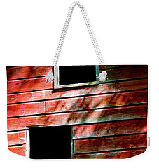 Weekender Tote Bag featuring the photograph Barn Red by Kendall McKernon