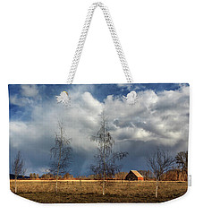 Weekender Tote Bag featuring the photograph Barn Storm by James Eddy