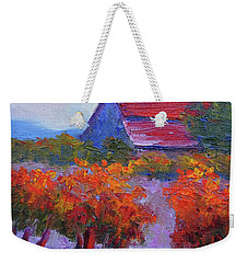 Barn Vineyard Autumn Weekender Tote Bag