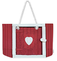 Barn Window With Heart Weekender Tote Bag