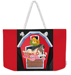 Barn With Animals Weekender Tote Bag by Brenda Bonfield