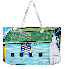 Barn With Quilt Weekender Tote Bag by Jim Harris