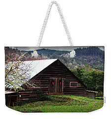 Barn With Red Bows Weekender Tote Bag