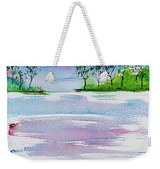 Gum Trees Frame The Sunset At Barnes Bay Weekender Tote Bag
