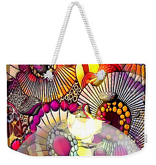 Weekender Tote Bag featuring the digital art Barock Pop By Nico Bielow by Nico Bielow