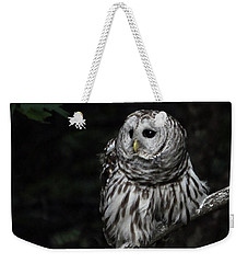 Weekender Tote Bag featuring the photograph Barred Owl 2 by Glenn Gordon
