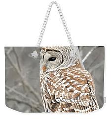 Barred Owl Close-up Weekender Tote Bag
