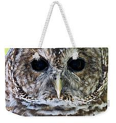 Barred Owl Closeup Weekender Tote Bag