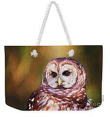 Barred Owl Portrait Weekender Tote Bag