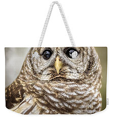 Weekender Tote Bag featuring the photograph Hoot by Steven Sparks