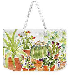 Barrel Cactus And His Buddies Weekender Tote Bag by Pat Katz