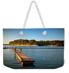 Barren River Lake Dock Weekender Tote Bag