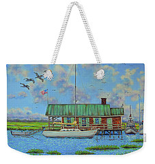 Barriar Island Boathouse Weekender Tote Bag
