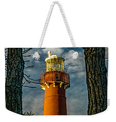 Weekender Tote Bag featuring the photograph Barrny Thru The Trees by Nick Zelinsky