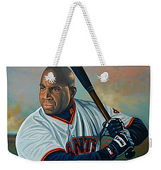 Barry Bonds Weekender Tote Bag by Paul Meijering