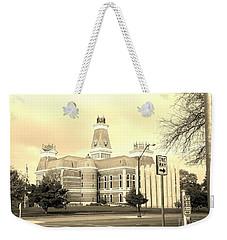 Bartholomew County Courthouse Columbus Indiana - Sepia Weekender Tote Bag