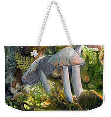 Weekender Tote Bag featuring the painting Base Camp by Sherry Shipley