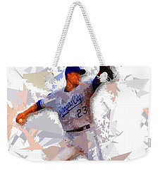 Weekender Tote Bag featuring the painting Baseball 23 by Movie Poster Prints