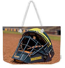Baseball Catcher Helmet Weekender Tote Bag