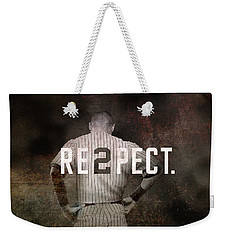 Baseball - Derek Jeter Weekender Tote Bag by Joann Vitali