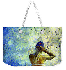 Weekender Tote Bag featuring the photograph Baseball Fan by Claire Bull