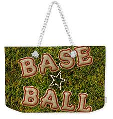 Baseball Weekender Tote Bag by La Reve Design