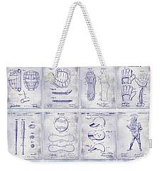 Baseball Patent History Blueprint Weekender Tote Bag