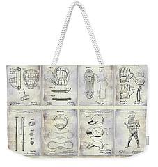 Baseball Patent History Weekender Tote Bag
