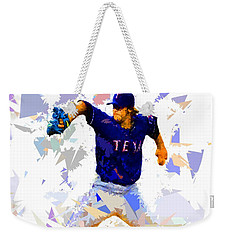 Weekender Tote Bag featuring the painting Baseball Pitch by Movie Poster Prints