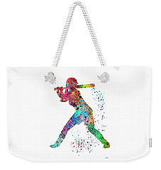 Baseball Softball Player Weekender Tote Bag