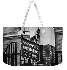 Baseball Warning Bw Weekender Tote Bag