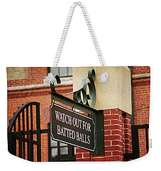 Baseball Warning Weekender Tote Bag