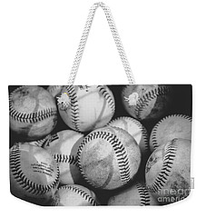 Baseballs In Black And White Weekender Tote Bag