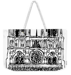 basilica Notre Dame Weekender Tote Bag