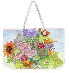 Basket Arrangement Weekender Tote Bag by Anne Marie Brown