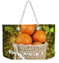Basket Full Of Oranges Weekender Tote Bag by Shirley Mangini