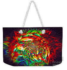 Weekender Tote Bag featuring the photograph Basket Of Color by Geraldine DeBoer