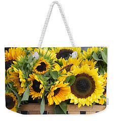 Basket Of Sunflowers Weekender Tote Bag