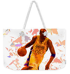 Weekender Tote Bag featuring the painting Basketball 24 by Movie Poster Prints