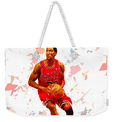 Weekender Tote Bag featuring the painting Basketball 33 by Movie Poster Prints