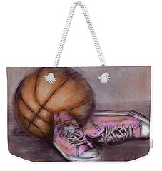 Basketball And Pink Shoes Weekender Tote Bag
