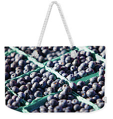 Baskets Of Blueberries Weekender Tote Bag by Todd Klassy