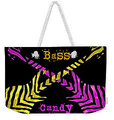 Weekender Tote Bag featuring the digital art Bass Candy by Guitar Wacky
