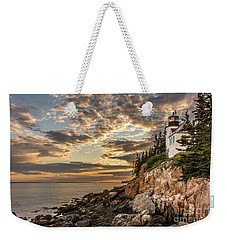 Bass Harbor Head Lighthouse Sunset Weekender Tote Bag