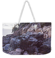 Bass Harbor Light Reflection Weekender Tote Bag