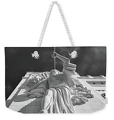 Weekender Tote Bag featuring the photograph Bass Performance Hall Angel by Guy Whiteley