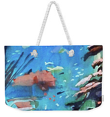 Weekender Tote Bag featuring the painting Bass Pro Outdoor World by Ed Heaton