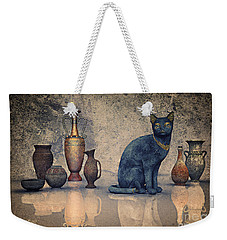 Bastet And Pottery Weekender Tote Bag by Jutta Maria Pusl